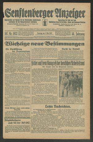 Senftenberger Anzeiger on May 9, 1933