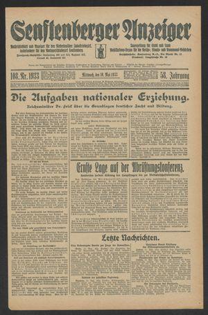 Senftenberger Anzeiger on May 10, 1933