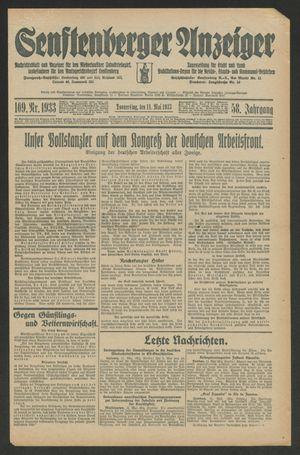 Senftenberger Anzeiger vom 11.05.1933
