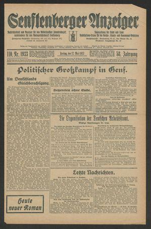 Senftenberger Anzeiger vom 12.05.1933
