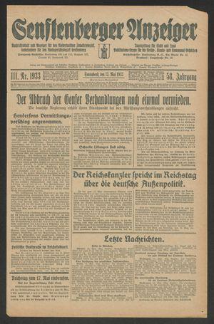 Senftenberger Anzeiger vom 13.05.1933