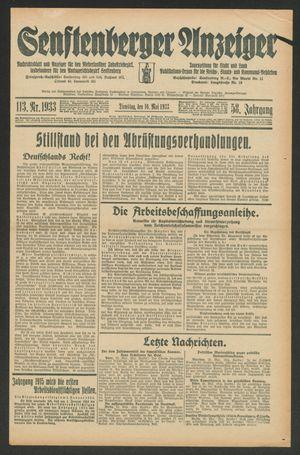 Senftenberger Anzeiger on May 16, 1933