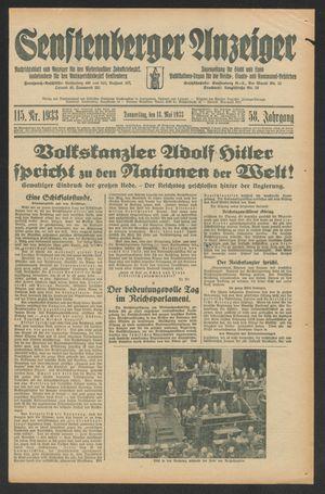 Senftenberger Anzeiger vom 18.05.1933