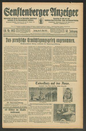Senftenberger Anzeiger vom 19.05.1933