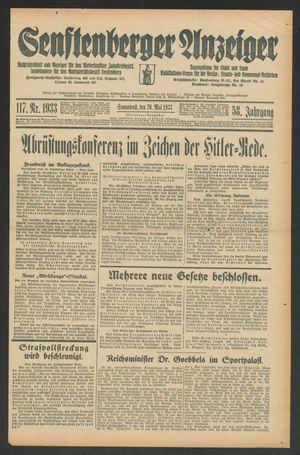 Senftenberger Anzeiger vom 20.05.1933