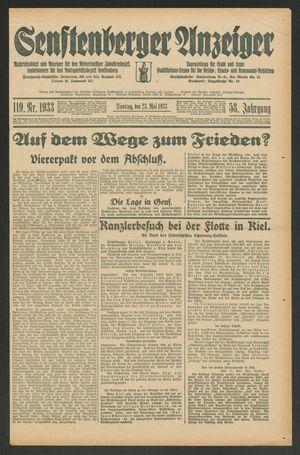 Senftenberger Anzeiger vom 23.05.1933