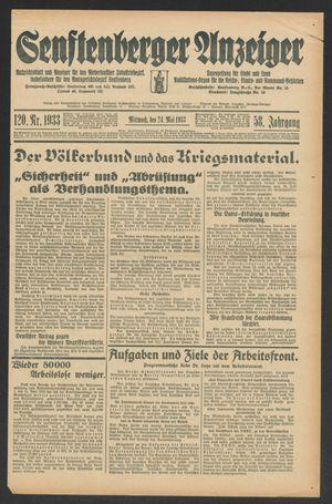 Senftenberger Anzeiger vom 24.05.1933