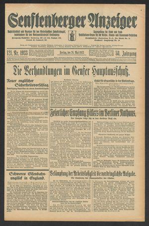 Senftenberger Anzeiger vom 26.05.1933