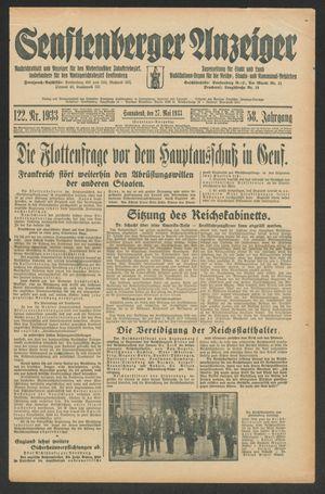 Senftenberger Anzeiger on May 27, 1933