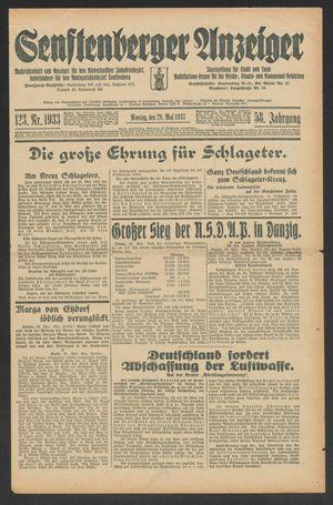Senftenberger Anzeiger vom 29.05.1933
