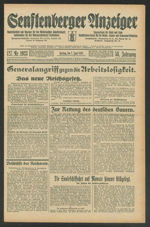 Senftenberger Anzeiger vom 02.06.1933
