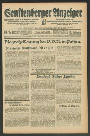 Senftenberger Anzeiger vom 06.06.1933
