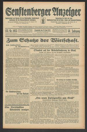 Senftenberger Anzeiger on Jun 10, 1933