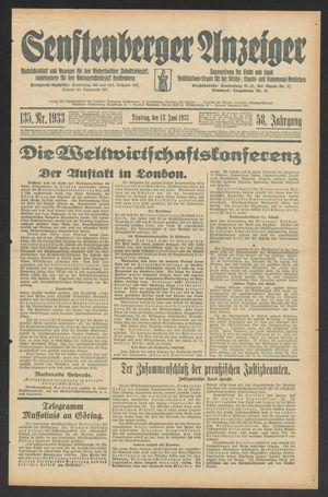 Senftenberger Anzeiger vom 13.06.1933