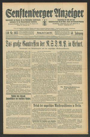 Senftenberger Anzeiger vom 19.06.1933