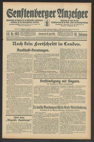 Senftenberger Anzeiger vom 20.06.1933