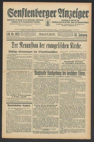 Senftenberger Anzeiger on Jun 26, 1933