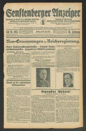 Senftenberger Anzeiger vom 30.06.1933