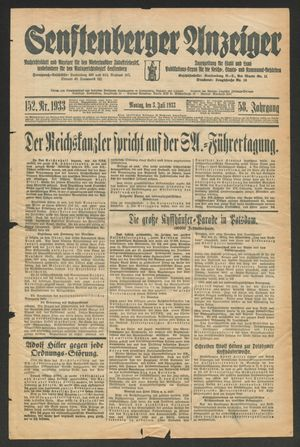 Senftenberger Anzeiger on Jul 2, 1933