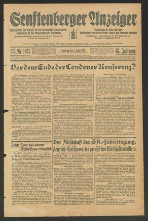 Senftenberger Anzeiger vom 04.07.1933