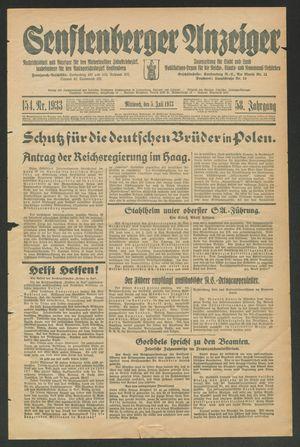 Senftenberger Anzeiger vom 05.07.1933
