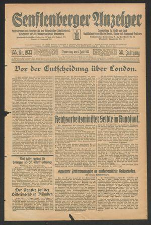 Senftenberger Anzeiger vom 06.07.1933