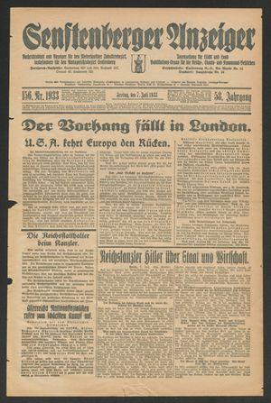 Senftenberger Anzeiger vom 07.07.1933