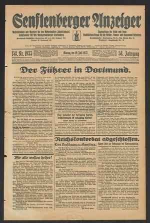 Senftenberger Anzeiger vom 10.07.1933