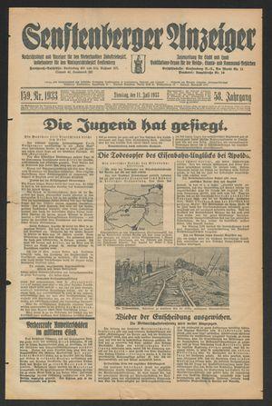 Senftenberger Anzeiger vom 11.07.1933