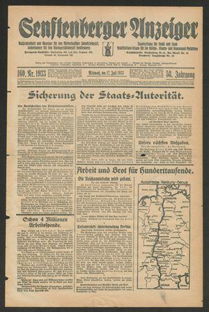Senftenberger Anzeiger vom 12.07.1933