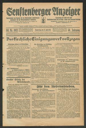 Senftenberger Anzeiger vom 13.07.1933