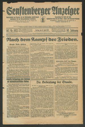 Senftenberger Anzeiger vom 14.07.1933
