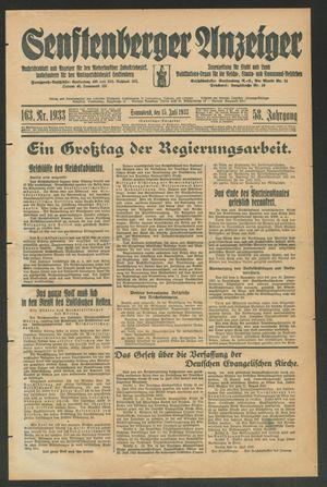 Senftenberger Anzeiger vom 15.07.1933