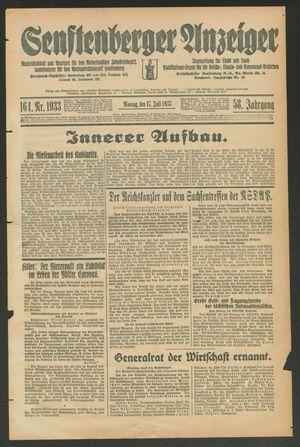Senftenberger Anzeiger vom 17.07.1933