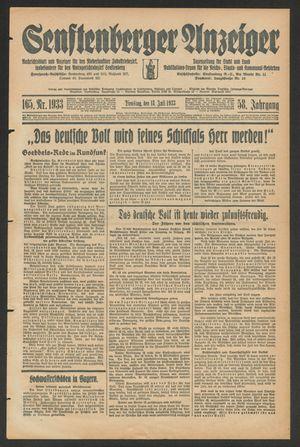 Senftenberger Anzeiger vom 18.07.1933