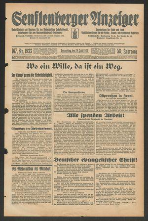 Senftenberger Anzeiger vom 20.07.1933