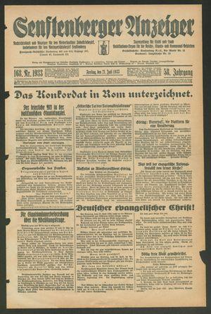 Senftenberger Anzeiger vom 21.07.1933