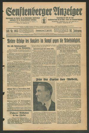 Senftenberger Anzeiger vom 22.07.1933