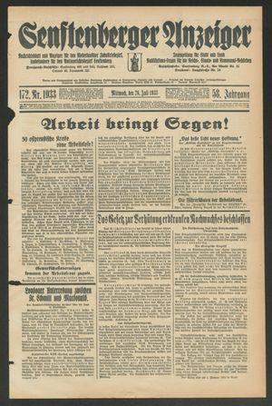 Senftenberger Anzeiger vom 26.07.1933