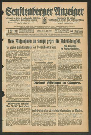 Senftenberger Anzeiger vom 28.07.1933