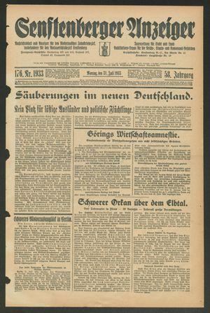 Senftenberger Anzeiger vom 31.07.1933