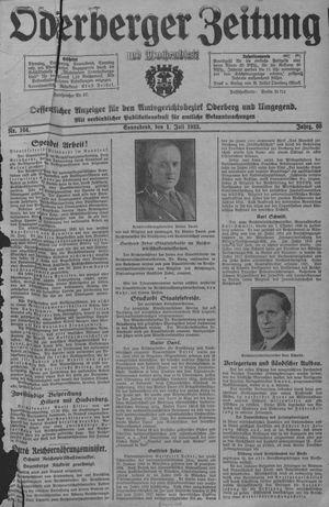 Oderberger Zeitung und Wochenblatt vom 01.07.1933