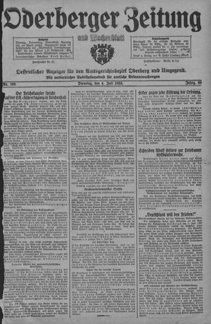 Oderberger Zeitung und Wochenblatt vom 04.07.1933