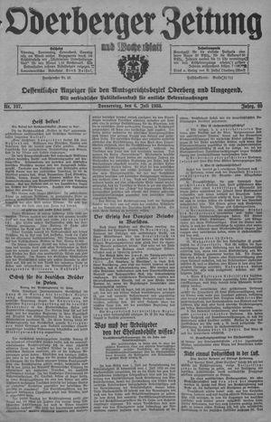 Oderberger Zeitung und Wochenblatt vom 06.07.1933
