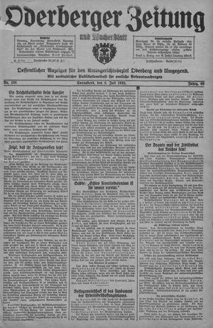 Oderberger Zeitung und Wochenblatt vom 08.07.1933