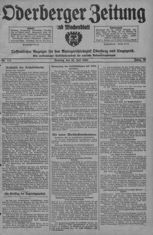 Oderberger Zeitung und Wochenblatt vom 16.07.1933