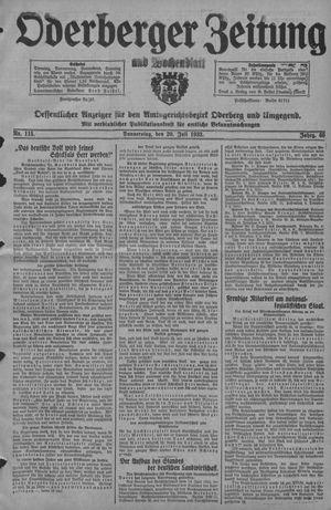Oderberger Zeitung und Wochenblatt vom 20.07.1933