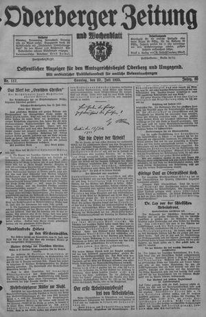 Oderberger Zeitung und Wochenblatt vom 23.07.1933