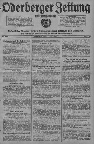 Oderberger Zeitung und Wochenblatt vom 27.07.1933