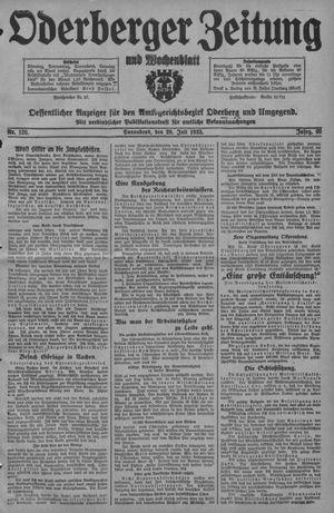 Oderberger Zeitung und Wochenblatt vom 29.07.1933